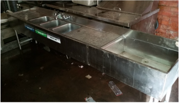 3 Bin Bar Sink