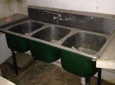 3 Bin Stainless Sink W Faucet